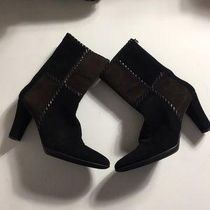 Aquatalia • Black and Brown Heel Boots